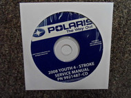 2008 POLARIS Youth 4 Stroke Service Repair Shop Manual CD FACTORY OEM 08
