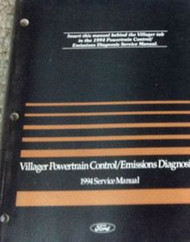 1994 FORD MERCURY VILLAGER VAN Powertrain Control Emission Diagnosis Manual OEM