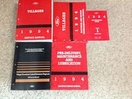 1994 FORD MERCURY VILLAGER Service Shop Repair Manual Set 94 W EWD PCED SPECS