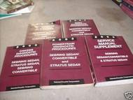 2003 CHRYSLER SEBRING CONVERTIBLE & SEDAN Service Shop Repair Manual SET OEM