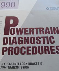 1990 Jeep WRANGLER CHEROKEE COMANCHE Powertrain Diagnostics Procedures Manual