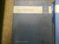 1982 1989 MERCEDES S SLC E CLASS 116 107 123 126 Electric Wiring Service Manual