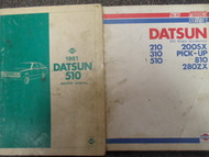 1981 Datsun 510 Shop Service Repair Manual SET DEALERSHIP FACTORY OEM BOOK 81