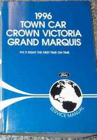 1996 LINCOLN TOWN CAR Service Shop Manual OEM 96 FACTORY OEM BRAND NEW BOOK