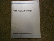 1988 VW FOX GOLF JETTA Product Change Service Training Information Shop Manual
