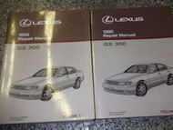 1995 Lexus GS300 GS 300 Service Shop Repair Manual SET TWO VOLUME FACTORY OEM