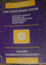 1996 DODGE INTREPID ABS TEVES BRAKES CHASSIS Diagnostics Procedures Shop Manual