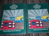 1978 DODGE MAGNUM Service Repair Shop Manual Set OEM 2 VOLUME SET FACTORY BOOKS