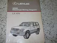 2000 Lexus LX470 LX 470 Electrical Wiring Diagram Service Shop Manual OEM EWD x