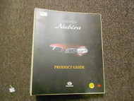 1997 DAEWOO NUBIRA Product Guide Service Repair Shop Manual FACTORY OEM BOOK 97