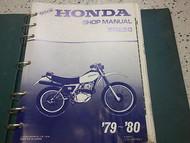 1979 1980 Honda XR250 XR 250 Service Shop Repair Manual FACTORY OEM NEW 79