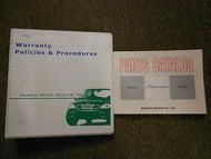 2001 DAEWOO LEGANZA Illustrated Service Parts Catalog Manual SET FACTORY OEM 01