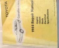 1988 TOYOTA COROLLA FX & FX16 Service Shop Repair Workshop Manual OEM 1988