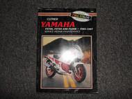 1985 1986 1987 Clymer Yamaha FZ700 FZ750 FAZER Service Repair Shop Manual X