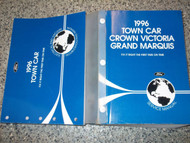1996 LINCOLN TOWN CAR Service Shop Manual Set OEM 96 FACTORY OEM BOOKS X