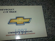 1997 CHEVY TRUCK CK C/K Owners Manual BOOK GENERAL MOTORS CHEVY MANUAL OEM 97 x