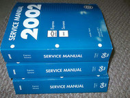 2002 GMC SAVANA & EXPRESS GH VAN Service Shop Repair Workshop Manual Set OEM NEW