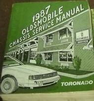 1987 Oldsmobile OLDS TORONADO Service Shop Repair Manual DEALERSHIP FACTORY OEM