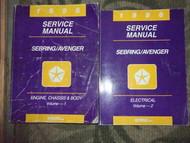 1996 Chrysler Sebring & Dodge Avenger Shop Repair Service Manual Set OEM 2 VOLUM