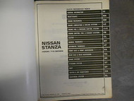 1987 Nissan Stanza Service Repair Shop Manual Damaged Cover Factory OEM 87