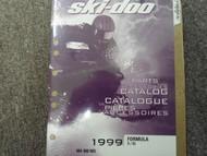 1999 Ski Doo Formula S SL Parts Accessories Catalog Service Manual Factory OEM