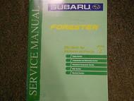 2001 Subaru Forester Mechanism Function Section 2 Service Repair Shop Manual OEM
