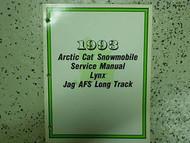 1993 Arctic Cat Lynx Jag AFS Long Track Service Shop Repair Manual 93 OEM BOOK