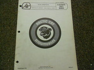 1976 Arctic Cat Pantera Illustrated Service Parts Catalog Manual FACTORY OEM