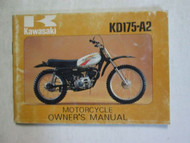 1977 Kawasaki KD175-A2 Motorcycle Owner's Manual KAWASAKI 77 OEM USED