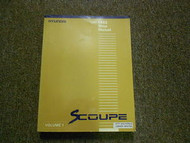1992 HYUNDAI SCOUPE Service Repair Shop Manual SET FACTORY OEM BOOK 92 VOL 1