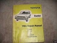 1984 Toyota Starlet Service Shop Repair Workshop Manual Factory OEM Book