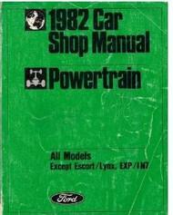 1982 Ford Mercury CAPRI POWERTRAIN Repair Service Shop Manual DEALERSHIP