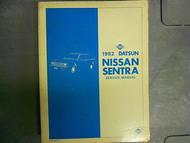 1982 Datsun Nissan Sentra Service Repair Shop Manual Factory OEM BOOK 82