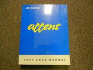 1999 HYUNDAI ACCENT Service Repair Shop V1 Brake System Body Steering Suspension