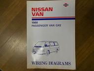 1988 Nissan Passenger Van GXE Wiring Diagram Service Repair Shop Manual