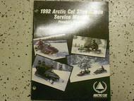 1992 Arctic Cat Pantera Prowler Service Repair Shop Manual FACTORY OEM BOOK 92