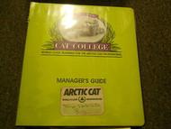 1989 1999 Arctic Cat Managers Guide FACTORY OEM BOOK 89 99 ARCTIC CAT DEALERSHIP