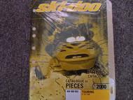 2000 Ski Doo Touring E LE SLE Parts Accessories Catalog Manual Factory OEM Book