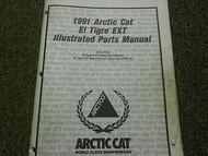 1991 Arctic Cat El Tigre EXT Illustrated Service Parts Catalog Manual OEM