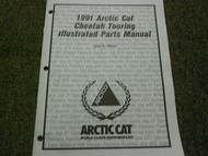 1991 Arctic Cat Cheetah Touring Illustrated Service Parts Catalog Manual OEM