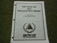 1991 Arctic Cat Lynx Illustrated Service Parts Catalog Manual FACTORY OEM
