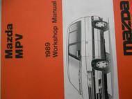 1989 Mazda MPV M P V Service Repair Shop Manual FACTORY OEM RARE BOOK 89
