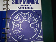 1975 HONDA MR250 MR 250 Service Shop Repair Manual BRAND NEW 75 HONDA
