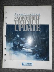 1997 Yamaha Snowmobile Technical Update Manual FACTORY OEM BOOK 97 DEALERSHIP