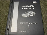 1995 Subaru Legacy Service Repair Shop Manual Volume 1 FACTORY OEM BOOK 95