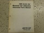 1989 Arctic Cat Mountain Cat Addendum Illustrated Service Repair Shop Manual OEM