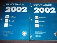 2002 Chevy TRAILBLAZER ENVOY OLDS BRAVADA TRUCK Service Shop Repair Manual SET