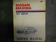1987 Nissan Maxima Service Repair Shop Manual 1st Revision Factory OEM Book 87