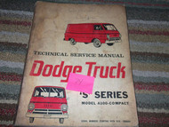 1974 1975 DODGE TRUCK TRUCKS A100 S Series COMPACT Shop Service Repair Manual