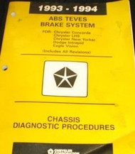 1993 1994 CHRYSLER LHS NEW YORKER ABS TEVES Brake Chassis Diagnostic Manual OEM
